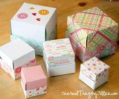 How to Make a Homemade Gift Box {Video} Mrs, Luchow - Here's a idea: Have the kids decorate paper, cut out pattern and fold it into box shape using template. cut a slit in the top like a piggy bank, apply self stick magnet. It will be a Boxtops 4 Homemade Gift Boxes, Diy Gift Box, Diy Gifts, Diy Craft Projects, Diy And Crafts, Paper Crafts, Craft Ideas, Diy Ideas, How To Make Box
