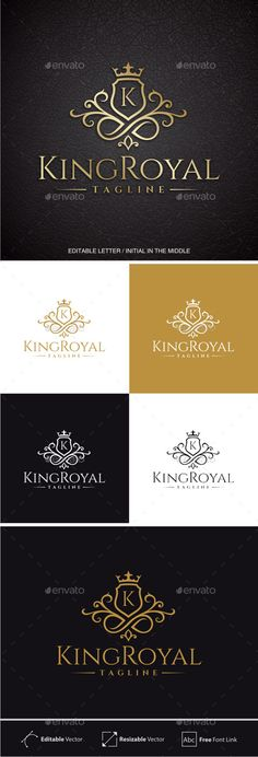 King Royal (Editable Initial / Letter K ) — Photoshop PSD #royal #kingdom • Available here → https://graphicriver.net/item/king-royal-editable-initial-letter-k-/11446600?ref=pxcr