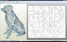 3d Paper Art, Origami Paper Art, Cardboard Paper, 3d Paper Crafts, Paper Artwork, Geometric Deer, Free Paper Models, Dog Sculpture, Welding Art