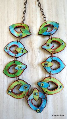 Polymer clay necklace by AnarinaAnar on Etsy, €56.00