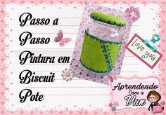 (DIY) PASSO A PASSO PINTURA EM BISCUIT #POTES