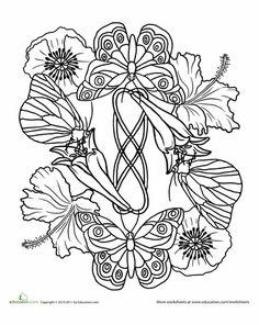 Worksheets: Butterfly Mandala