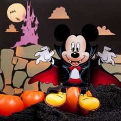 Vampire Mickey Candy Box- -Vampire Mickey is the perfect dose of Disney to add to your Halloween décor, but he's also an easy papercraft to sink your teeth into.