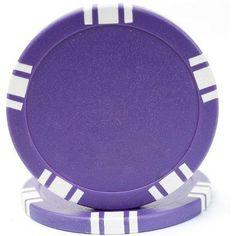 11.5-Gram 5 Spot Blank Poker Chips, Purple