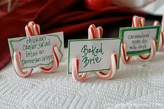 Clever Place Card Holders for Christmas