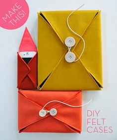 So cute and a great gift idea, too: #DIY felt gadget cases! In need of one for my external hard drive as a matter of fact...