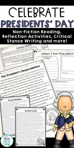 Engage your students this Presidents Day with nonfiction close reading articles and activities about Abraham Lincoln, George Washington, and the role of the President. Critical thinking reading and writing activities included, as well as math problem solving, too. These activities are more than just worksheets and will have your students learning all month long. Click to see more!