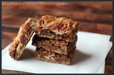 These Lethal Layer Bars are very similar to the Pecan Pie Bars I love to make. When you go to the website for the recipe you'll also find photos of techniques to make it easier and a blog that's written by food & mystery book readers like me.