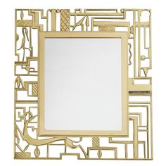 wall mirror in cast brass, signed - karl hagenauer for the wekstatte - vienna austria - c1924 - height: 16.5 in. (42 cm)  width/length: 14.8 in. (38 cm) - almond hartzog, ref. : 1210159086574 - 19500 usd