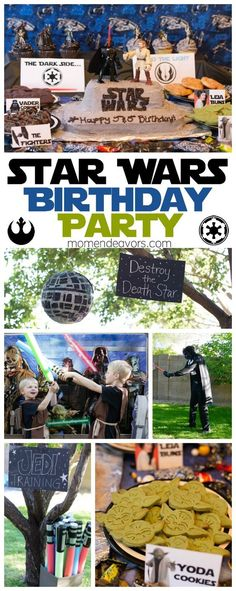 Star Wars Jedi Training Birthday Party - lots of decoration, food, and activity ideas. Creative, yet doable!: