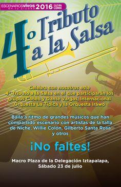 Disfruta de la música salsa y a acompaña a grandes músicos en la Plaza de la #DelegacionIztapalapa