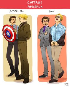 Howard Stark and Steve Rogers v. Tony Stark and Steve Rogers.