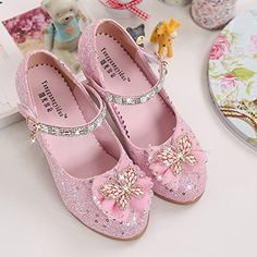 Amazon.com: YIBLBOX Girls Glittering Princess Shoes Mary Jane Bowknot Butterfly Low Heel Wedding Party Shoes: Clothing Princess Shoes, Glitter Shoes, Party Shoes, Low Heels, Kids Girls, Mary Janes, Dress Shoes, Butterfly, Bridesmaid