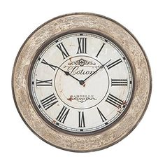Deco 79 53818 Wood Wall Clock, 24' >>> Unbelievable offers are coming! : Home Decor Clocks