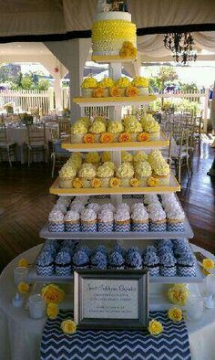 Cupcake tower for wedding