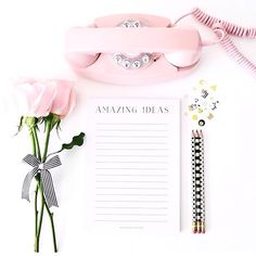 Amazing ideas // love this shot of our notepad via @confettigt  #misspoppydesign #notepad #stationery #roses