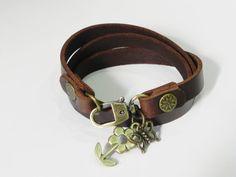 Leather bracelet on Etsy