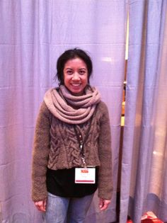 Aneas from NG vol. worn by Jocelyn Songco at Vogue Knitting Live Vogue Knitting, Live, Crochet, Sleeves, Pattern, Fashion, Moda, Fashion Styles, Chrochet