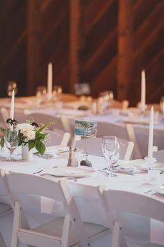 barn wedding reception - photo by Jaquilyn Shumate http://ruffledblog.com/orcas-island-wedding-at-a-sawmill #weddingreception #weddingideas