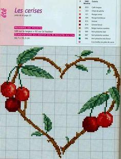 Милые сердцу штучки: рукоделие, декор и многое другое: Вышивка крестом: Еще немного сочной вишни (подборка схем)