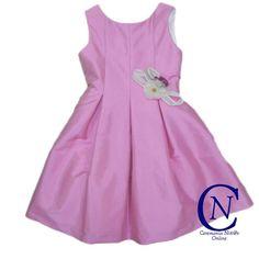 Vestido de ceremonia Confecciones Anavig de niña fucisa