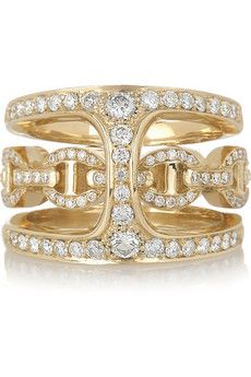 HOORSENBUHS by Robert Keith | Phantom 18-karat gold and diamond double ring
