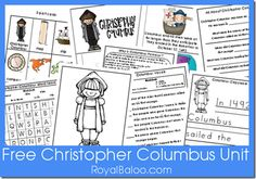Christopher Columbus Christopher Columbus Study Royal Baloo is offering a Free Christopher Columbus Unit Printables. From the site: What's i