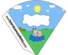 Cone Guloseimas Peppa Pig e Família:
