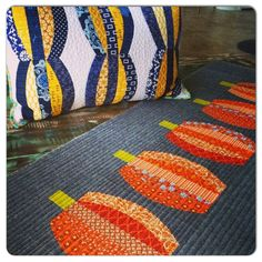 Check out those darling pumpkins! Helen put a spin on our Crazy Eights pattern in the our Contemporary...