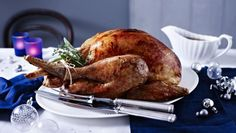 BBC - Food - Recipes : Perfect roast turkey and stuffing Stuffing Recipes, Turkey Recipes, Chicken Recipes, Dinner Recipes, Turkey Crown Recipe, Christmas Roast Turkey, Turkey Cooking Times, Perfect Roast Turkey, Mary Berry