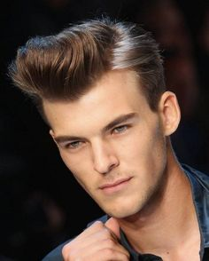 Pompadour hairstyles for men. Stunning pompadour hairstyles for men. Top short hairstyles for men. 80s Hairstyles Male, Mens Haircuts 2015, Hipster Haircuts For Men, Hot Haircuts, Hipster Hairstyles, 2015 Hairstyles, Undercut Hairstyles, Men Hipster, Men Undercut