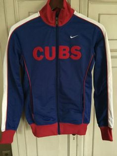 CHICAGO-CUBS-NIKE-JACKET-SMALL-FULL-ZIP-STITCHED-Mens