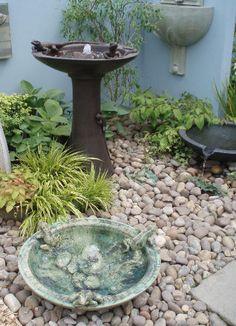 Fuglebad med vann