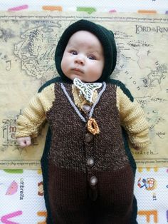 """""""I will take the ring to Mordor, though I do not know the way."""" This little Frodo Baggins thanks the awesome and incredibly talented E Foley for his Lord of the Rings garb."""