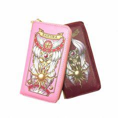 2016新しい到着コスプレアニメカードキャプターさくらファッション女性財布女性カードホルダー漫画ロング財布小枝ジッパー