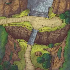 """Illustrations I made for PRINTABLE RPG. This is a new project on the PATREON platform, which is designed for rpg fans of """"Dungeons Masters"""". Dnd World Map, Fantasy World Map, Dungeons And Dragons Homebrew, D&d Dungeons And Dragons, Fantasy Art Landscapes, Fantasy Landscape, Forest Map, Isometric Map, Rpg Map"""