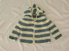 How to crochet an EASY children's sweater / hoodie / jacket - YouTube