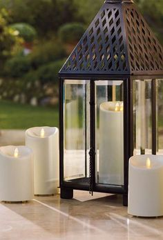 Seeing the realistic flames of these Outdoor Dream Candles flickering on breezy evenings is pure magic.