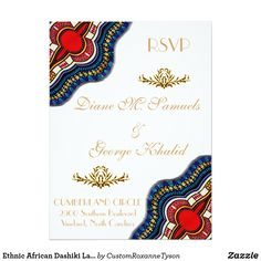 Shop Ethnic African Dashiki Lace Wedding Party Cards created by CustomRoxanneTyson. Personalize it with photos & text or purchase as is! Traditional Wedding Invitations, Lace Wedding Invitations, Zazzle Invitations, Invites, Wedding Ties, Wedding Cards, Wedding Decor, Wedding Hijab, Lace Weddings