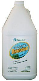 Benefect Botanical Disinfectant - Suitable for use around children, pets, the elderly and chemically-sensitive individuals. - The First & Only Botanical Disinfectant in North America Kills Over 99.99% of Bacteria, Fungus, TB and HIV. No Warning Labels or First Aid Statements. No Rinse or Wipe Required. No Mixing.