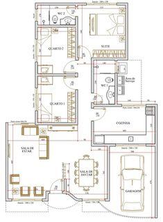 Projeto de casa de 3 quartos com 101.73m²