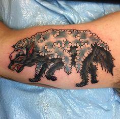 Wolf in sheep's clothing done by Tony Klett @ Naysayer Tattoo in Mesa, Arizona. Wolf in sheep's cl Sick Tattoo, Body Art Tattoos, Tattoos, Tradional Tattoo, Angle Tattoo, Western Tattoos, Dog Tattoos, Sheep Tattoo, R Tattoo