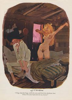 "Erich Sokol, the gifted illustrator / cartoonist for Playboy magazine.  John Ciardi once said, ""Modern art is what happens when painters stop looking at girls and persuade themselves they have a better idea."" ... Another excerpt from the illustration art blog."