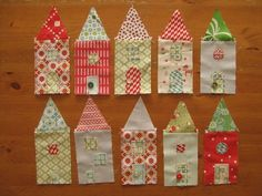 Love the little houses...perfect for my fabric 'bits' collection!