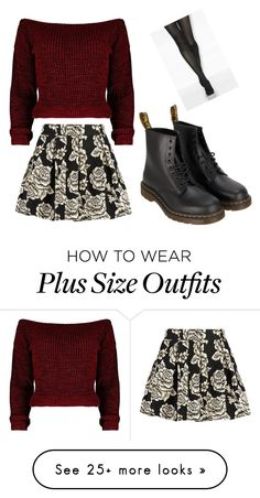"""A Floral Christmas"" by larrytattos on Polyvore featuring Zibi London and Dr. Martens"