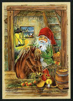 ˇˇ Scandinavian Folk Art, Scandinavian Christmas, Troll, Christmas Gnome, Christmas Art, Xmas, Graphic Design Illustration, Illustration Art, Kobold