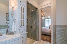 beach house bathroom with walk-in shower