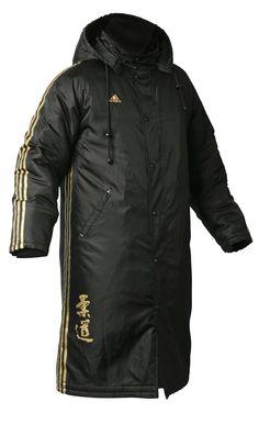 long winter coats | ... Mens Long Budo Spirit Winter Parka Jacket - Black Puffer Coat AD012C