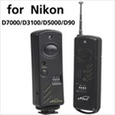 Genuine Nice Wireless Shutter Release Kit RF Transmitter + Receiver + Cable for Nikon Accessoires Photo, Nikon D7000, Nintendo Wii Controller, Walkie Talkie, Shutters, Sony, Remote, Cable, Nice