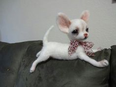 Another view of the felt chihuahua